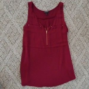 Express wine colored top size medium